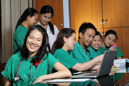 Group of students prep for CEU