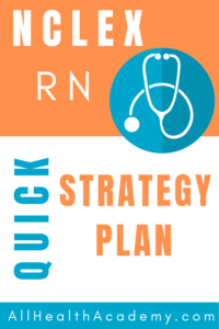 image of text box with nclex rn quick strategy plan